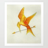 Mockingjay THGames Art Print