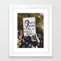 Rally Baby! Framed Art Print