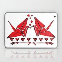Origami Birds In Love Laptop & iPad Skin