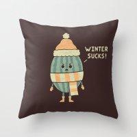Wintermelon Throw Pillow