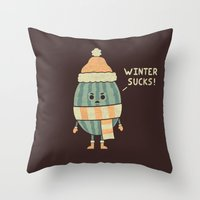 Wintermelon Throw Pillow