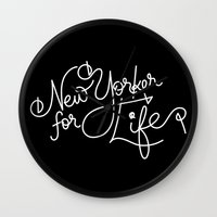 New Yorker For Life Wall Clock
