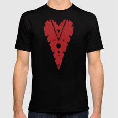 Love Mark SMALL Black Mens Fitted Tee