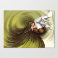 Time Antigrav - green Canvas Print
