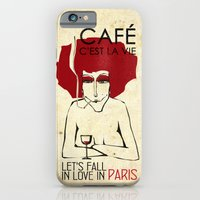 iPhone & iPod Case featuring Café c'est la vie - Paris by Lulla