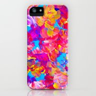 FLORAL FANTASY Bold Abst… iPhone (5, 5s) Slim Case