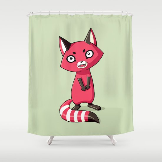 Shy Raccoon Shower Curtain