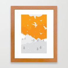 Winter Hills Framed Art Print