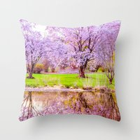 Spring At Arnold Arboret… Throw Pillow