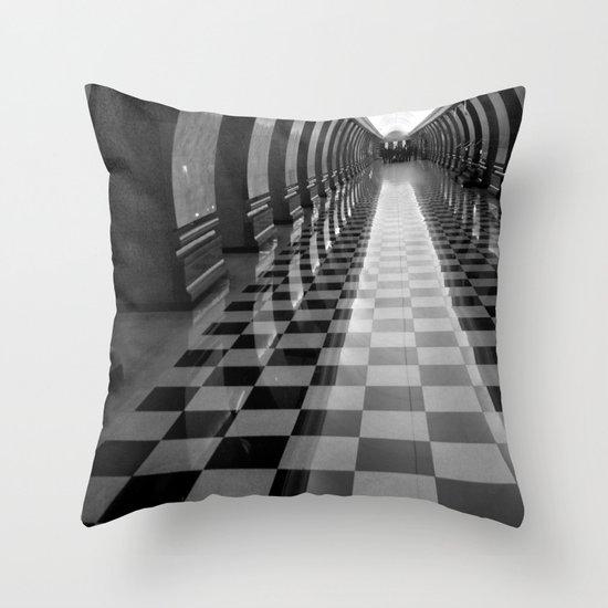 Moscow Metra Throw Pillow