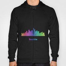 Rainbow Seattle skyline Hoody