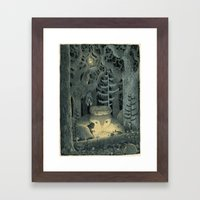 In The Howling Forest Framed Art Print