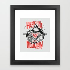 Heart of the Mountain Framed Art Print