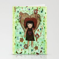 Broken girl Stationery Cards