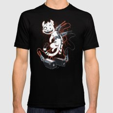 Cybercat Charges Up Mens Fitted Tee Black SMALL