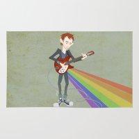 Radiohead Thom in Rainbows Rug
