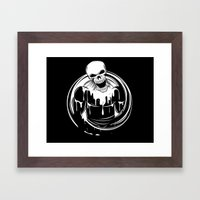 Skeleton Wrestler Framed Art Print