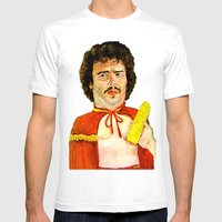 Get That Corn Out Of My Face! Mens Fitted Tee White SMALL