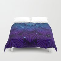 Variations on a Feather III - Raven Wing Deconstructed Duvet Cover