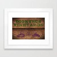 Dionysus Vineyards Framed Art Print