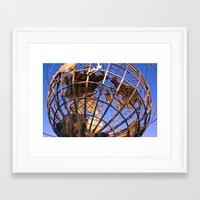 Unisphere  Framed Art Print