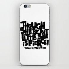 LITTLE FIERCE iPhone & iPod Skin