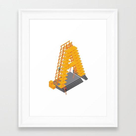 3D letter Framed Art Print