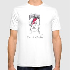 Bowie SMALL Mens Fitted Tee White