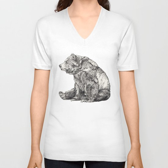 Bear // Graphite V-neck T-shirt
