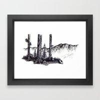 Ink Pen Framed Art Print