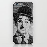 Chaplin portrait - Fingerprint iPhone 6 Slim Case