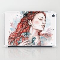 Girl With A Butterfly, W… iPad Case