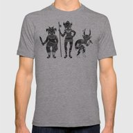Shadow Warriors Mens Fitted Tee Athletic Grey SMALL