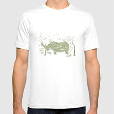 Black Rhino Mens Fitted Tee White SMALL