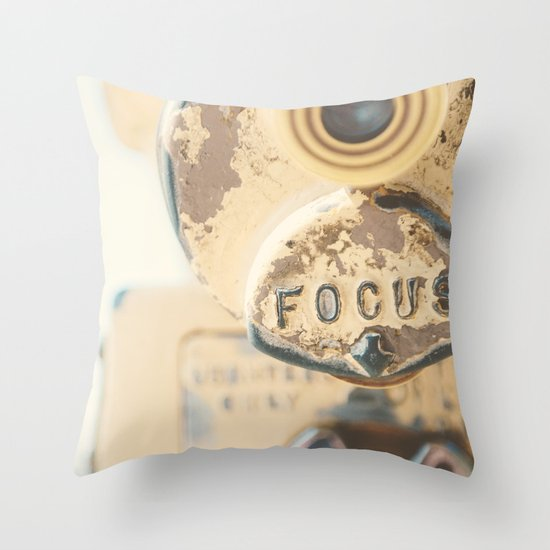 fo·cus ... Throw Pillow
