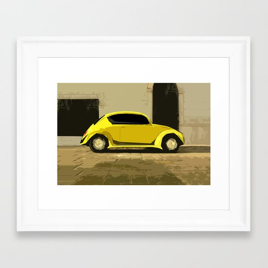 The LOve Bug reVAMP Framed Art Print