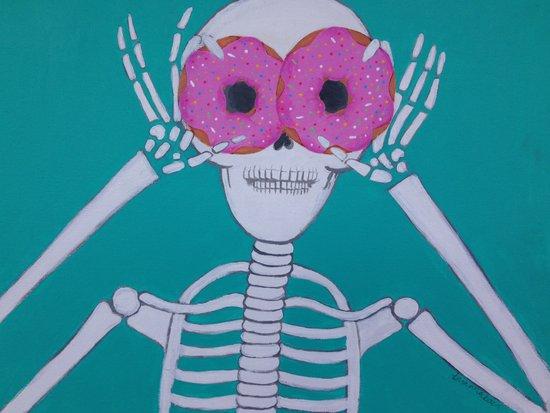 Donuts make me go nuts Art Print
