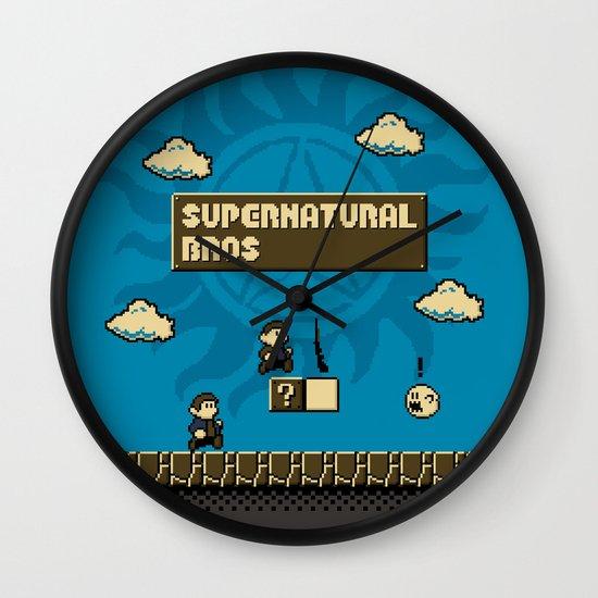 Supernatural Bros. Wall Clock