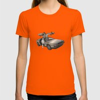 Stormtroooper In A DeLor… Womens Fitted Tee Orange SMALL