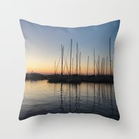 Piraceus - Greece Throw Pillow