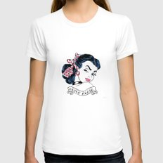 Never Again  Womens Fitted Tee White SMALL