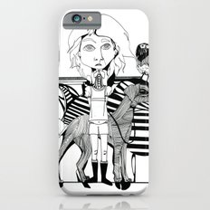 the girl, her dog and a bird iPhone 6 Slim Case