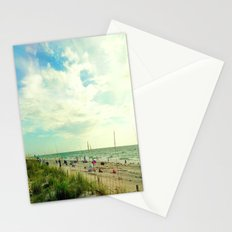 Oceanside People Watching Stationery Cards