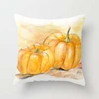 Mini Pumpkins II Throw Pillow