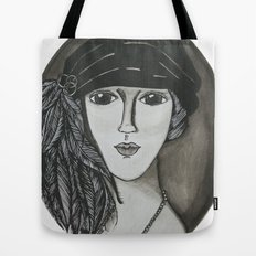 Bright Eyed Girl Tote Bag