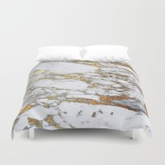 Gold Marble Duvet Cover