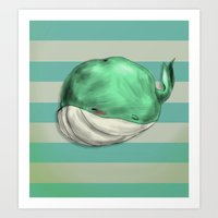 Tubby Sketch Whale Art Print