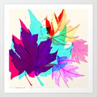 Maple Leaves Falling Art Print