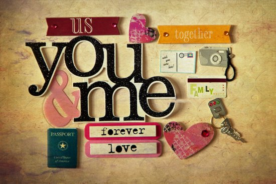 Collage Love - You & Me Art Print