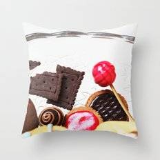 Candies and Cookies Throw Pillow